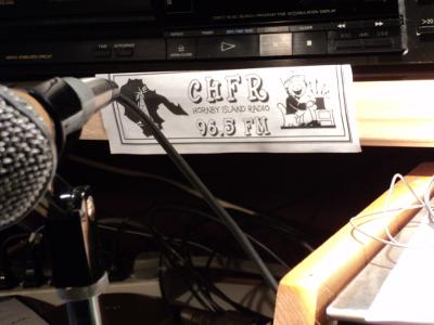 Broadcasting at CHFR Hornby Radio